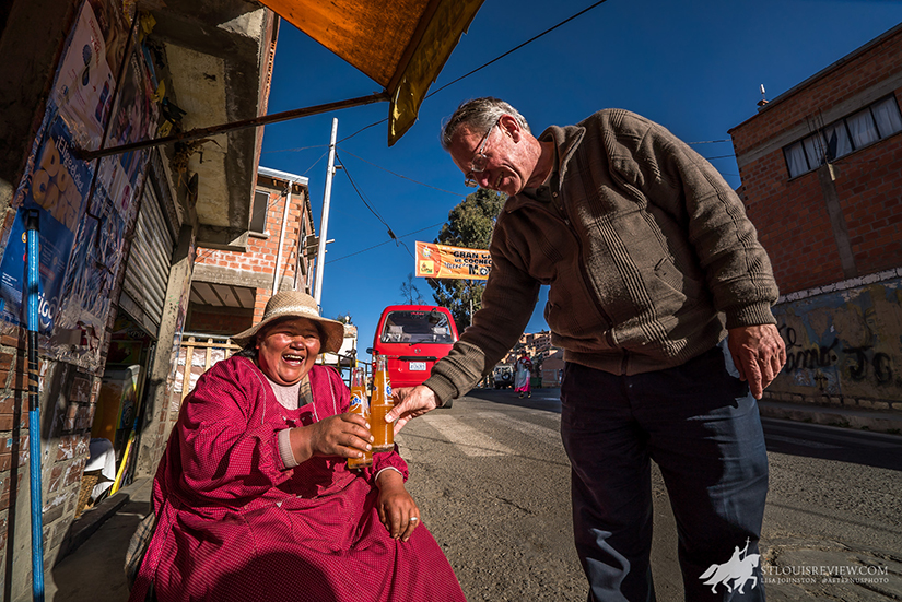 Father Patrick Hayden, pastor of Maria Reina Parish in La Paz, visited with Isador Choquehvanca in 2016. The Archdiocese of St. Louis' Latin America Apostolate Mission began in 1956 when Cardinal Joseph Ritter responded to the request of the papal nuncio to Bolivia to assist the Archdiocese of La Paz, a vast area with few native Bolivian priests.