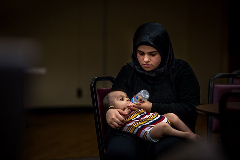In 2015, the International Institute in St. Louis and the United Nations High Commissioner for Refugees announced plans to help resettle Syrian refugees displaced by the war. Jailan and her husband Wael arrived in St. Louis with their two disabled sons, who have physical and developmental disabilities.