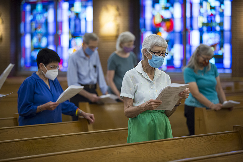 Clare Duffy participated in a prayer service at Holy Name of Jesus Parish in St. Louis Aug. 6 for the 75th anniversary of the bombing of Hiroshima, Japan.