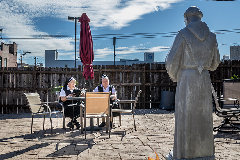 Our Lady of Guadalupe Convent, located near Planned Parenthood in St. Louis, has a new patio and prayer garden, which is open to visitors on Wednesdays for meetings or prayer services.