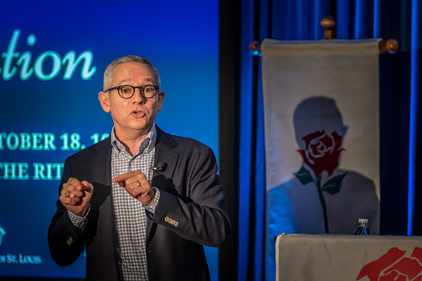 David Bereit, who co-founded the 40 Days for Life movement, was the speaker at the 44th annual Respect Life Convention held at Ritz-Carlton Hotel in Clayton Oct. 18. He encouraged attendees to continue the state's strong pro-life work.