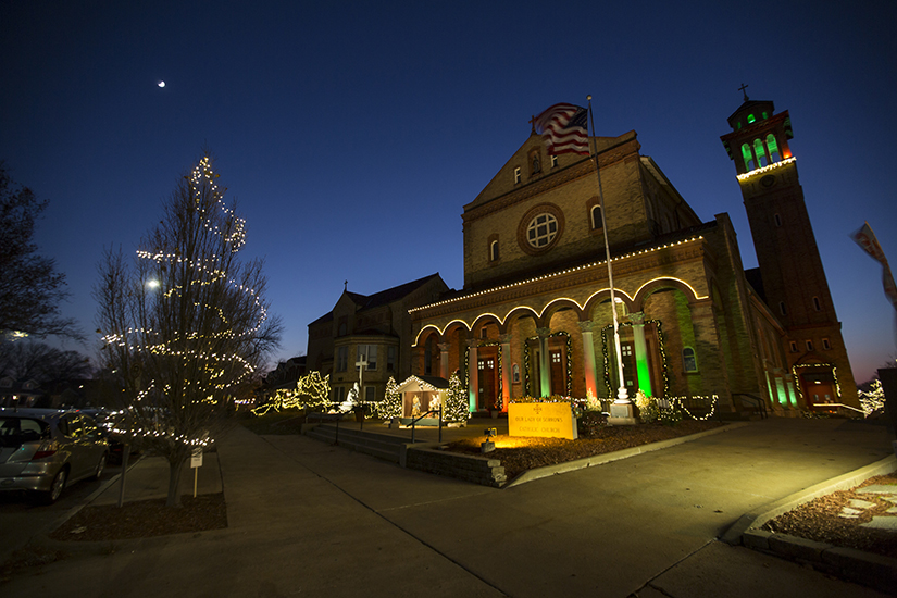 Our Lady of Sorrows Parish in St. Louis is lighting up the church with a Christmas lights display, hoping to be a beacon of hope for parishioners and neighbors. It's more than just something pretty to be enjoyed — it's an act of evangelization, said pastor Father Sebastian Mundackal.