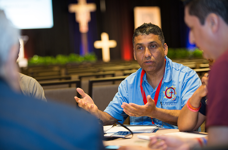 Deacon Martin Garcia participated in a breakout session April 14 at the Region X encuentro in San Antonio. The regional encuentros taking place across the country are preparation for the national encuentro in September in Grapevine, Texas.