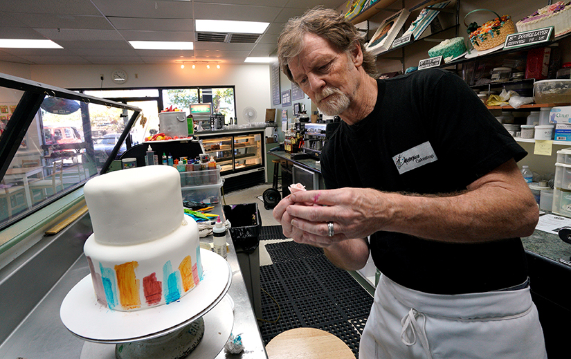 Baker Jack Phillips decorated a cake in his Masterpiece Cakeshop in 2017 in Lakewood, Colo. In a 7-2 decision June 4, the Supreme Court sided with the baker, who refused to make a wedding cake for a same-sex couple. The case put anti-discrimination laws up against freedom of speech and freedom of religious expression.
