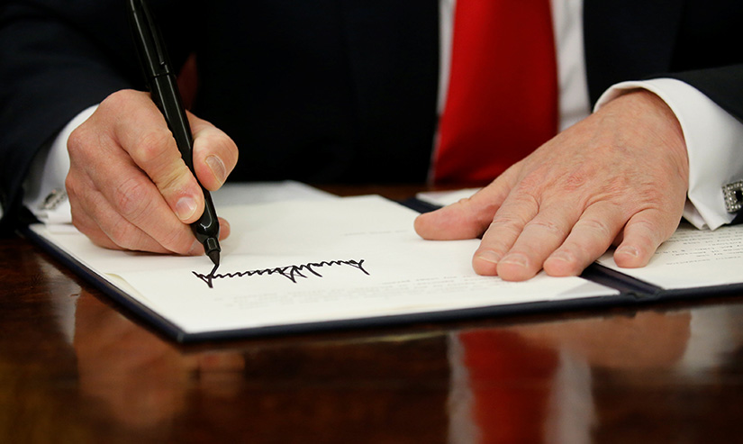 President Donald Trump signed an executive order June 20 to halt the separation of families.