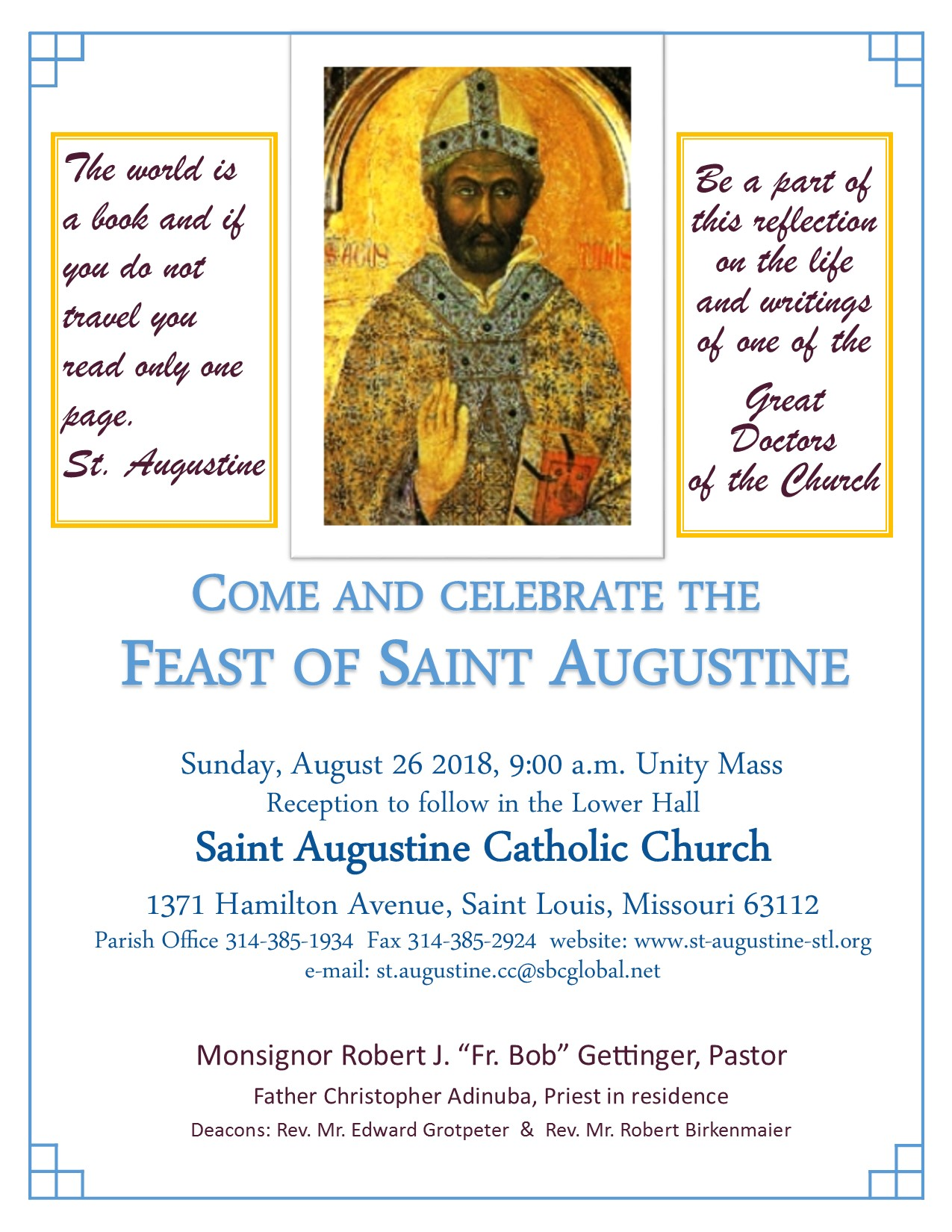 feast of saint augustine archdiocese of st louis
