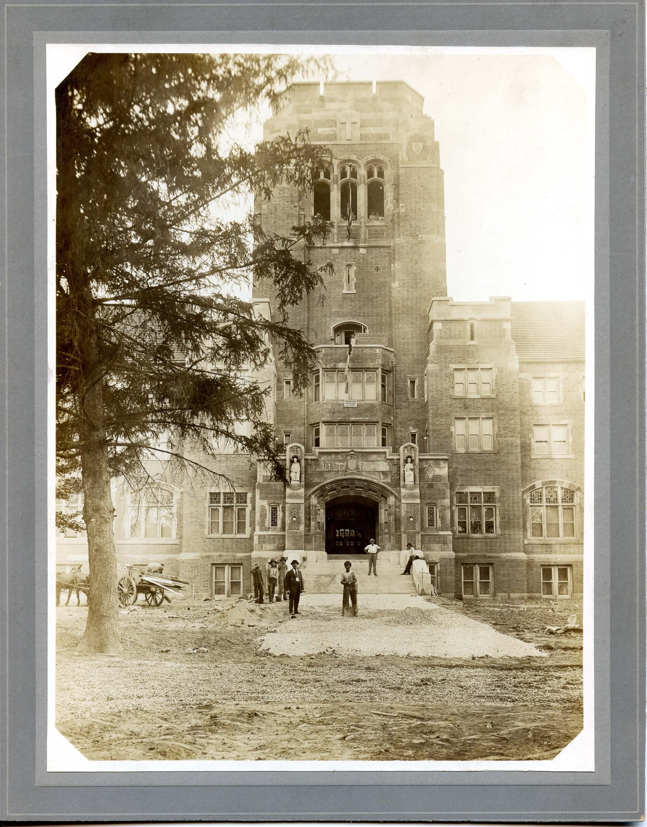 Historical_-_Photograph_-_Kenrick_Seminary_-_front_with_construction_workers_circa_1915_50 (1)